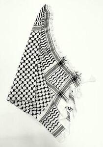 Palästinensertuch, Kufiya, Schwarz-Weiß,100% Baumwolle,aus Syrien-Damaskus,Neu++