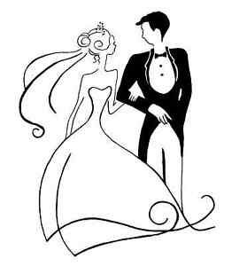 Bride and Groom Unmounted Rubber Stamp