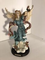 """Vintage Soltano Collection Resin Angel Figurine approx 14"""" Tall"""