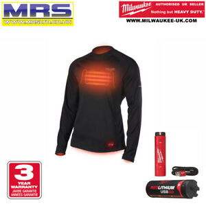 MILWAUKEE L4HBLB-301 USB RECHARGEABLE HEATED WORKSKIN BASE LAYER - 493347846