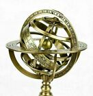 X-Mas Vintage Nautical Solid Brass 12 Inches Armillary Sphere World Globe 7402
