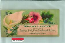 C53-3993, Tortoise Shell. 1880-90S Victoria Trade Card.