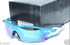 OAKLEY Radarlock Path Sunglasses Fingerprint Sky Blue/Sapphire & Black Iridium