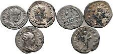 KOC Antike Roma Coins.3 pieces lot Roman Coins Denarius Silver