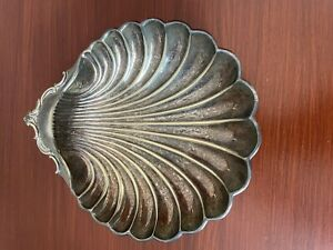 VINTAGE SILVER PLATED SHELL CLAM  SOAP DISH HOLDER