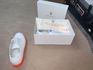 Gucci Kids Shoes Unisex Size 33 White Orange