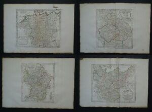 1795 Vaugondy Delamarche Atlas 4 x maps  GERMANY - CZECH REPUBLIC  SWABIA SAXONY