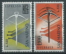 1965 SAN MARINO ESPRESSI BALESTRA 2 VALORI MNH ** - ED780