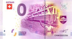 SUISSE Gstaad, Train, N° de la 5ème liasse, 2017, Billet Euro Souvenir