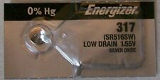 Energizer Watch Battery 317 replaces Sr516Sw, V317, Type `Ca` & Awi S52
