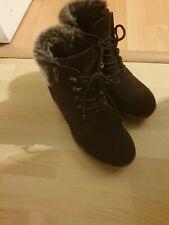 Brown Fur Boots 6.5