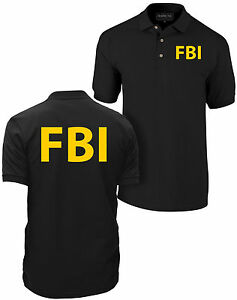 FBI polo shirt, government agent polo shirt, secret service, police, CIA polo