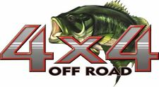 4 X 4  Bass Fish  Custom Graphic Decal 1 Pair (2 Decals)