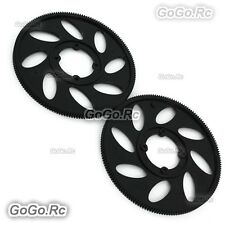 2 Pcs 162T Main Drive Gear For T-rex TREX 500 Helicopter - Black (GT500-031)