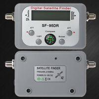 Digital Satellite Finder Meter TV Signal Finder Sat Decoder DVB-T2 LCD FTA Dish