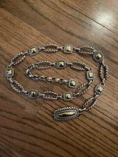Brighton Silver and Gold Tone Chain Belt. 36