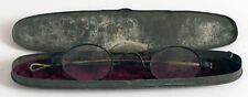 CIVIL WAR ERA CASES EYEGLASSES SPECTACLES GLASSES ANTIQUE EARLY OLD TIN CASE !!