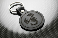 Fiat Abarth Cuero KEYRING LLAVERO SCHLÜSSELRING Porte-clés 500 595 695 Araña