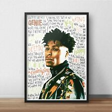 NBA YoungBoy Poster / Print / Wall Art A5 A4 A3 / Hip Hop / Never Broke Again