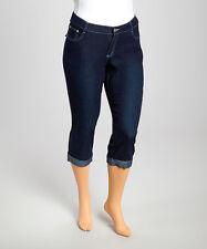 1826 Jeans Cuffed Capri Pants~Dark Blue Denim~5 Pocket~NWT~Womens Size 14