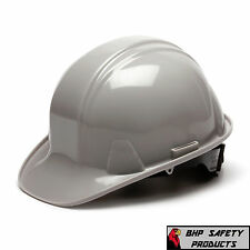 PYRAMEX GRAY CAP STYLE SAFETY HARD HAT 4-POINT RATCHET HP14112 CONSTRUCTION ANSI