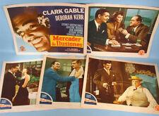 1947 The Hucksters 5 Orig. MGM Lobby Cards Clark Gable Ava Gardner Deborah Kerr