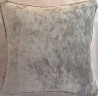A 16 Inch cushion cover in Laura Ashley Caitlyn Silver Velvet Fabric