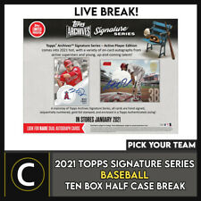 2021 Caja TOPPS ARCHIVES firma 10 (mitad Case) romper #A1055 - Elige Tu Equipo