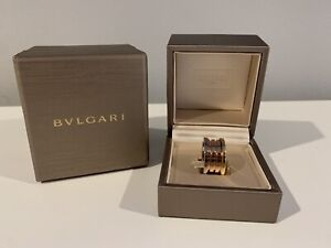 Bvlgari B Zero Ring Size 55 NIB Authentic 18k Rose, White, Yellow Gold
