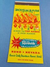 DOWN BY THE RIVERSIDE RESORT HOTEL RENO VEVADA MATCHBOOK TOP NAMES IN SHOW BIZ