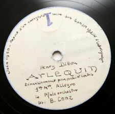 HENRY DILLON Arlequin string orchestra french 1950 UNISSUED ACETATE 2 x 78 rpm