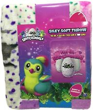 "Hatchimals Feel the Egg-citement Silky Soft Throw Blanket 40"" x 50"""
