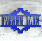 Welcome Western Cowboy Gun Revolver Welcome Sign Laser Cut Blanks Blue.