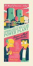 SDCC 2016 The Simpsons Springfield Power Plant Poster Dave Perillo SIGNED #/250