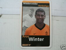 ARON WINTER 2000 ? ORANJE VOETBAL SOCCER, GAME PLAYING CARD ONE CARD ONLY