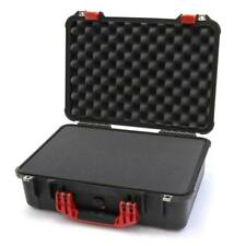Black and Red Pelican 1500 case with foam. (Pluck)