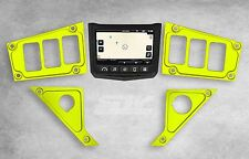 NEW 2017 POLARIS RZR XP 1000 RIDE COMMAND LIME SQUEEZE DASH PANEL 6 SWITCH PLATE