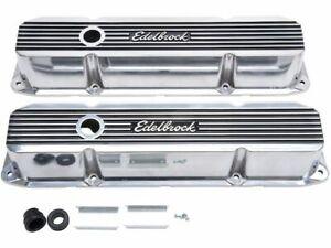For 1967 Dodge D200 Series Engine Valve Cover Set Edelbrock 86392ZV 6.3L V8