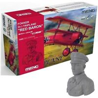 1/32 Meng #QS-002S Fokker Dr.1 Triplane Limited Edition With Red Baron Bust