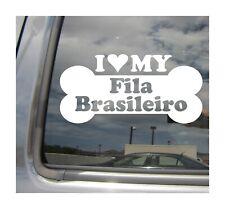 I Heart Lov 00006000 e My Fila Brasileiro Purebred Dog Bone Car Vinyl Decal Sticker 13397