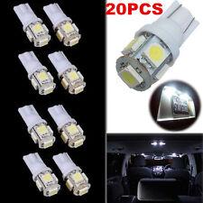20 PCS  DC12V T10 5050 5SMD White LED Car Light Wedge Lamp Bulbs Super Bright