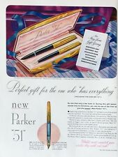 Original 1949 Print Ad PARKER 51 Pen Perfect Gift for Man Who has Everything