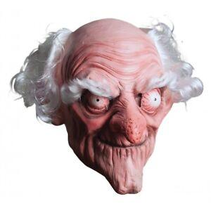 Old Man Mask Adult Scary Creepy Grandpa Halloween Costume Fancy Dress