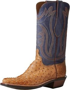 Lucchese Bootmaker Men's Hector Cowboy Western Leather Handmade Boots
