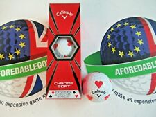 NEW CALLAWAY CHROME SOFT TRUVIS SPECIAL EDITION HEARTS GOLF BALLS X 3