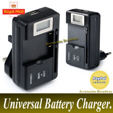 Universal External Mobile Phone Battery Desktop Charger Kit USB Port LCD Display