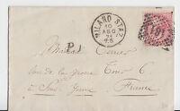 "Italien - 1871, frankierter Auslandsbeleg (40 c.) ""MILANO STAZ."" n. Frankreich !"