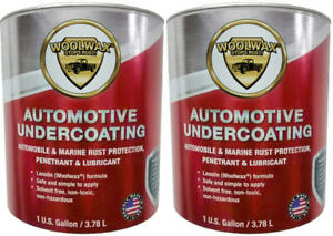 Woolwax Auto Undercoat. (2) Gallons The thickest Film available, BLACK