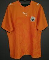 PUMA MEN COTE D'IVOIRE 2006/2007 IVORY COAST SOCCER FOOTBALL SHIRT JERSEY SIZE L