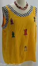VTG MEMPHIS Chess Speedway Racing Taxi top sleeveless Cami Top shell Blouse SZ L